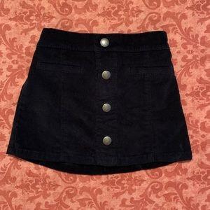 Old Navy toddler black corduroy skirt